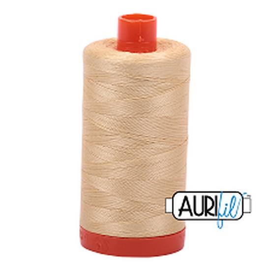 6001 Light Caramel Aurifil Thread 50 Wt 100% Cotton