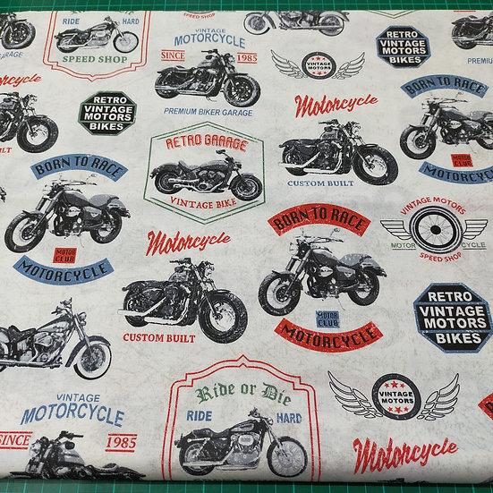 52240 Born To Ride  Motorbikes  White back ground