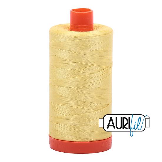 Aurifil Thread 50 Wt 100% Cotton #2115 Lemon