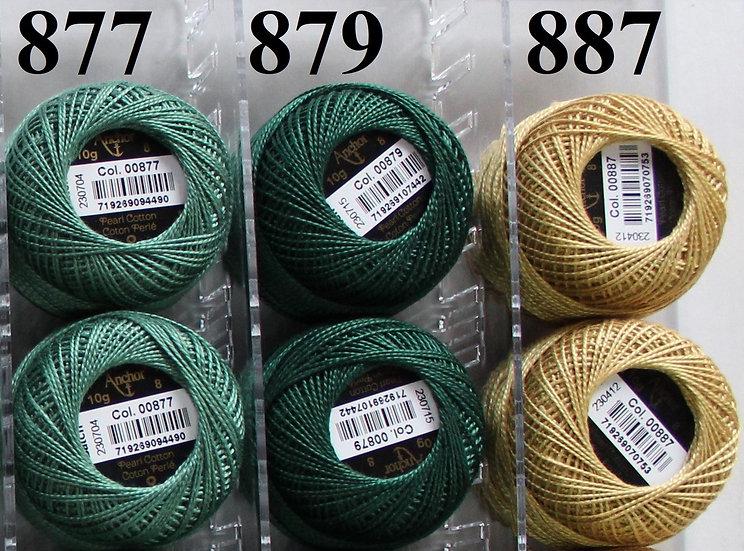 0879 Anchor Pearl 8 Cotton