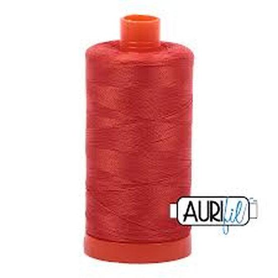 2245 Orangey Red Aurifil Thread 50 Wt 100% Cotton