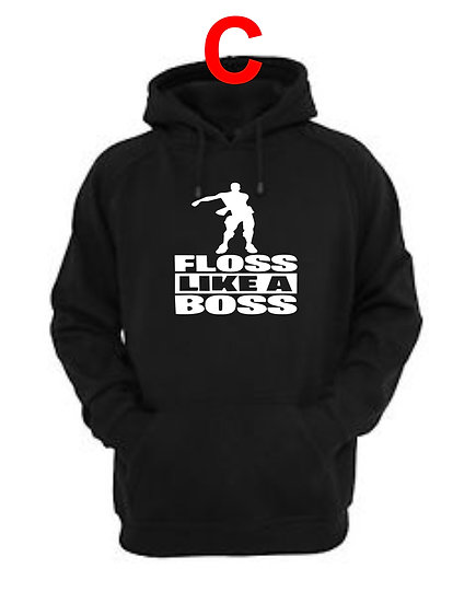 Fortnite Floss Like A Boss Hoodie Childrens Size 4 to 14