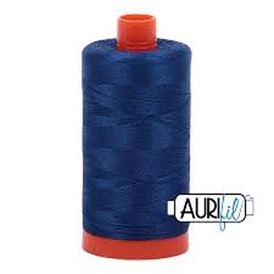 2780 Dark Delft Blue  Aurifil Thread 50 Wt 100% Cotton