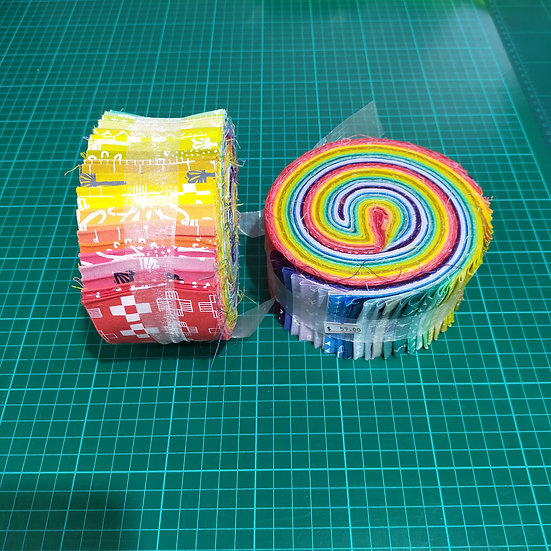 Jelly Roll    2.5 Strips  Bright Colours