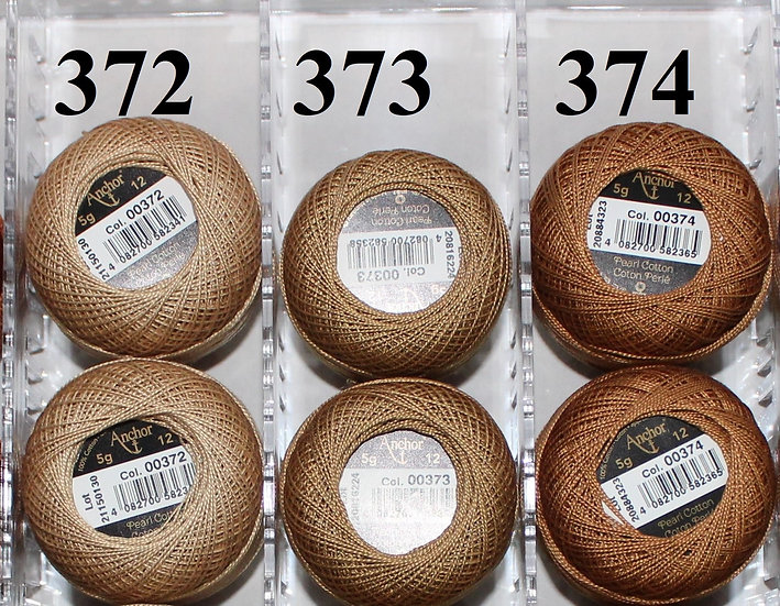 0374 Anchor Pearl 12 Cotton
