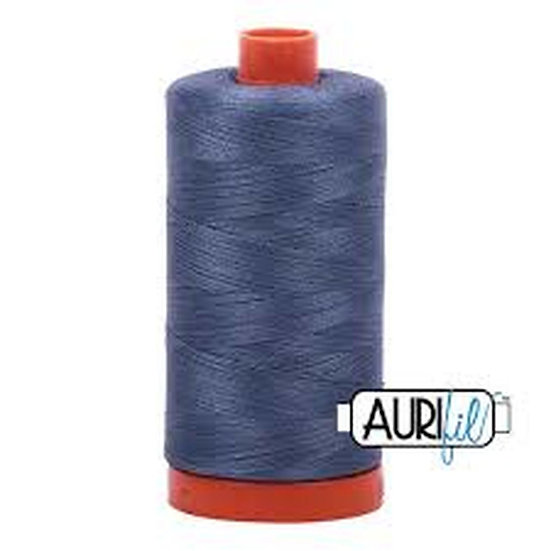1248 Dark grey  blue Aurifil Thread 50 Wt 100% Cotton