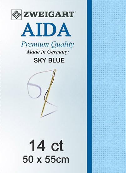 14 Ct Aida Sky Blue FQ