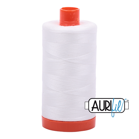 2021 Natural White Aurifil Thread 50 Wt 100% Cotton