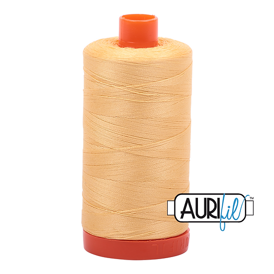 2130 Medium Butter Aurifil Thread 50 Wt 100% Cotton