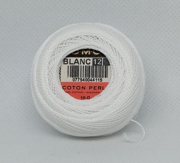 Blanc  DMC Pearl 12 10g 120 Mtr Balls