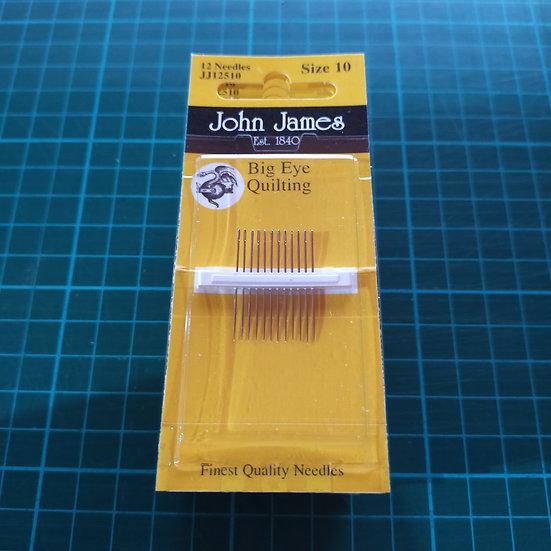 JJ12510 John James Needles  Big Eye Quilting Size 10x12