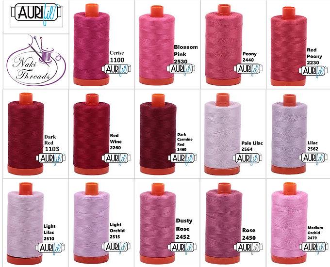 Colour Group 4 Aurifil Thread 50 Wt 100% Cotton