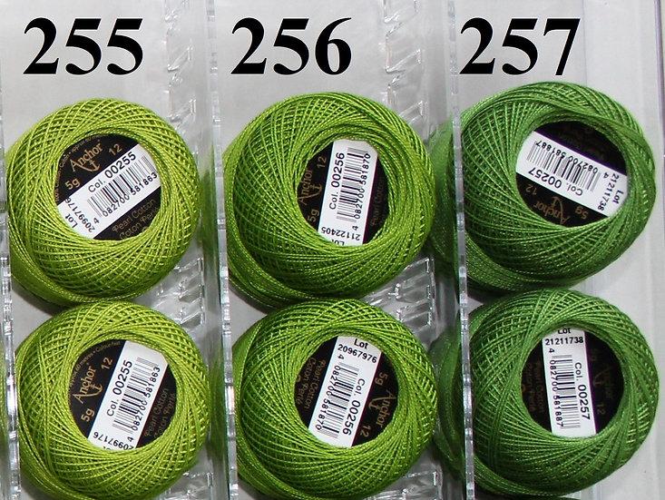 0256 Anchor Pearl 12 Cotton