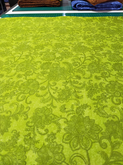 10216-42  Accent on Sunflowers  Green