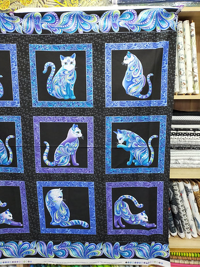 10260-P12  Cat-i-tude Panel  Singing the Blues