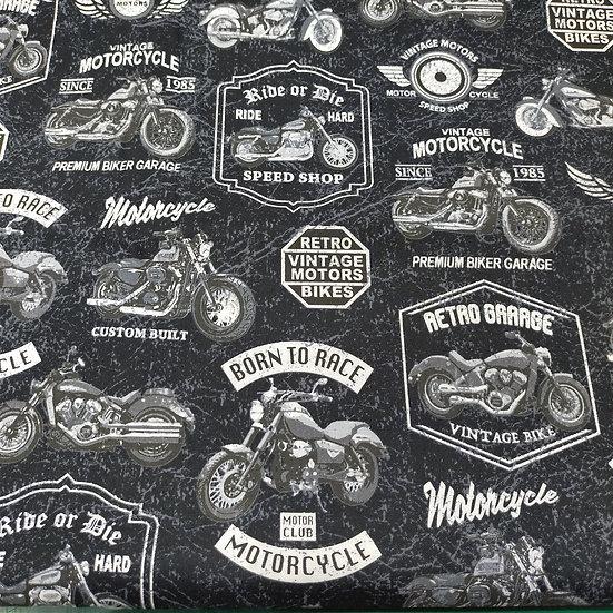 52240 Born To Ride  Motorbikes  Black back ground