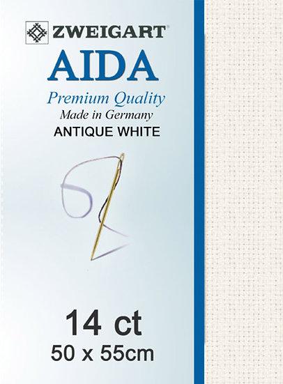 14 Ct Aida Antique White FQ