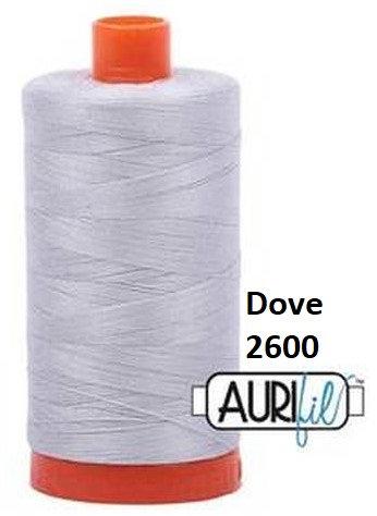 2600 Aurifil Thread 50 Wt 100% Cotton