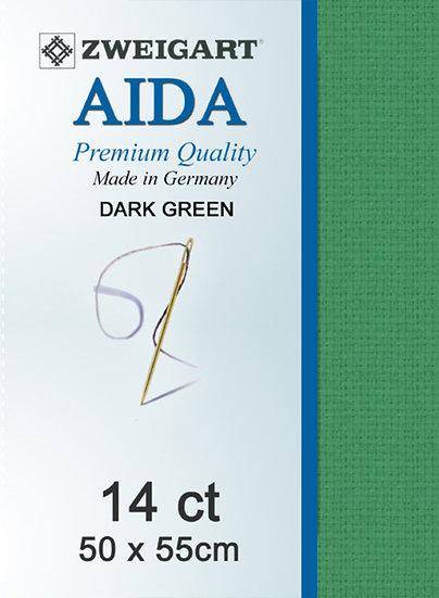 14 Ct Aida Dark Green FQ