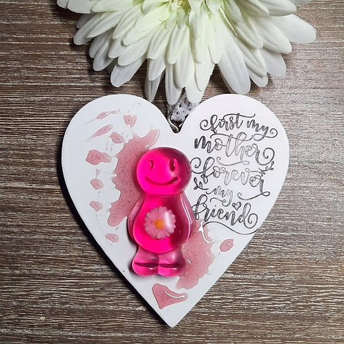 First My Mother, Forever... Jelly Baby Heart Wooden Plaque