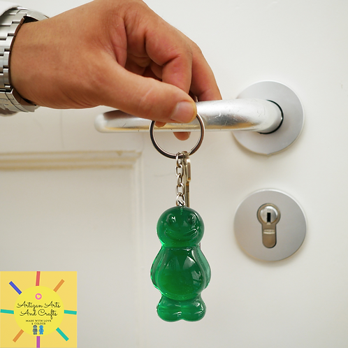 Green v2.0 Jelly Baby Keyring