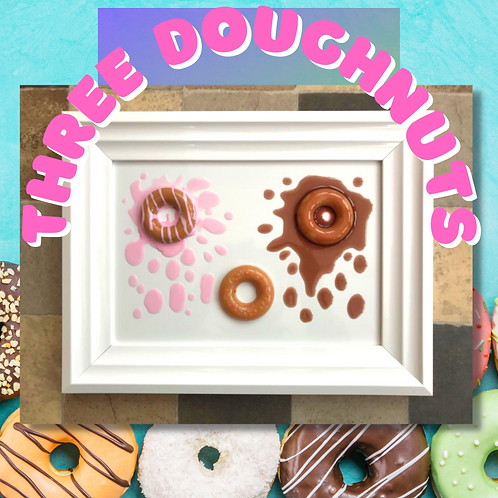 A4 'Special Edition' 3 Doughnuts Framed