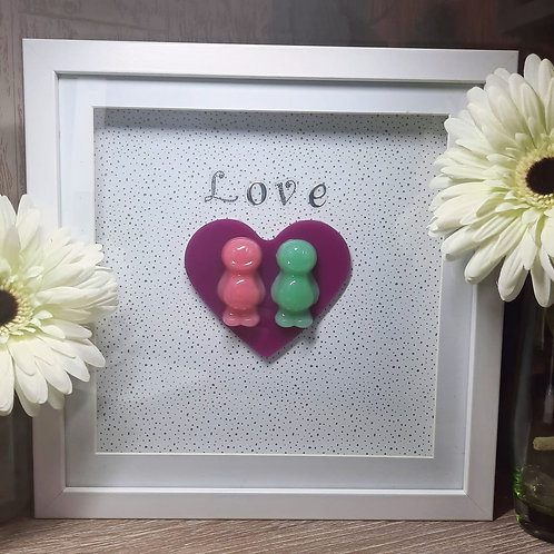 Love Heart Jelly Baby Picture (27x27cm)