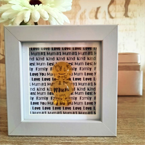 Personalised Mum Jelly Baby Picture (10x10cm)