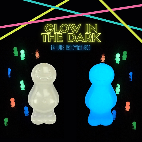 Blue Glow In The Dark Jelly Baby Keyring
