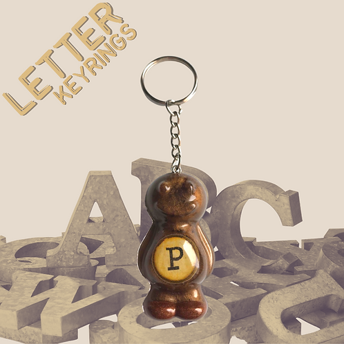 Letter 'P' Jelly Baby Keyring
