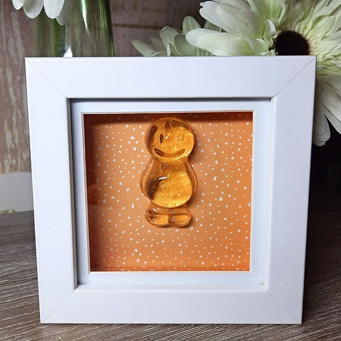 Orange Jelly Baby With A Orange Background (12x12cm)