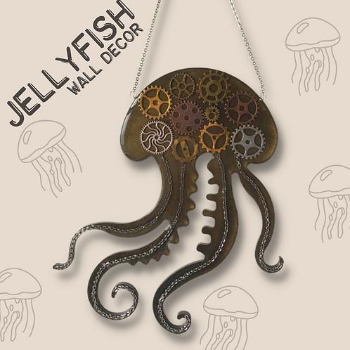 Jellyfish Resin Wall Decor (17cmx20cm)