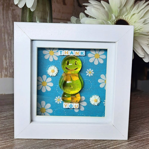Thank You Jelly Baby Picture (12x12cm)