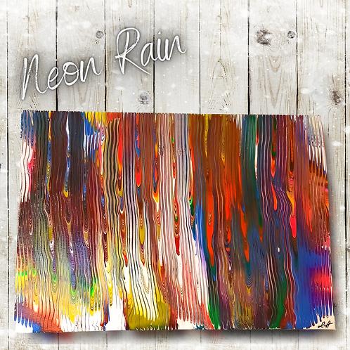 Neon Rain (59x42cm)