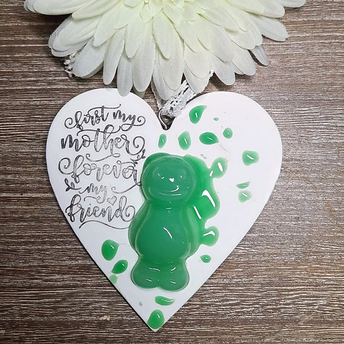 First My Mother... Jelly Baby Heart Wooden Plaque