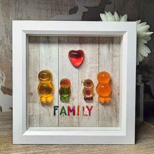 Family Jelly Baby Picture (19x19cm)