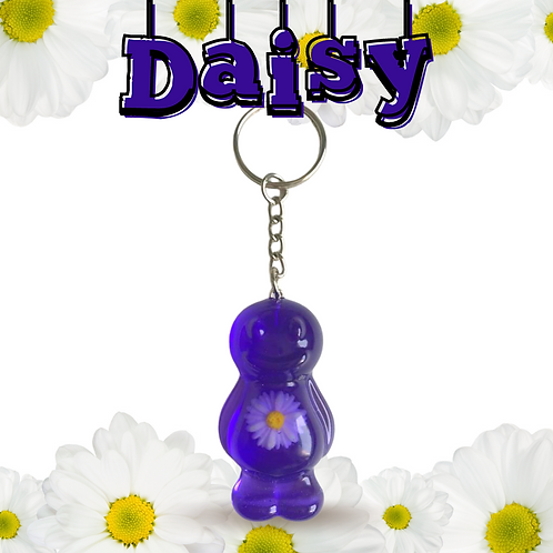 Daisy Purple Jelly Baby Keyrings