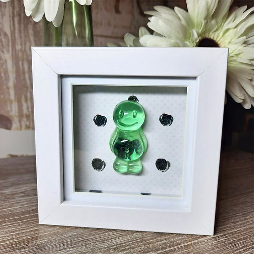 Green Jelly Baby With A White Background (12x12cm)