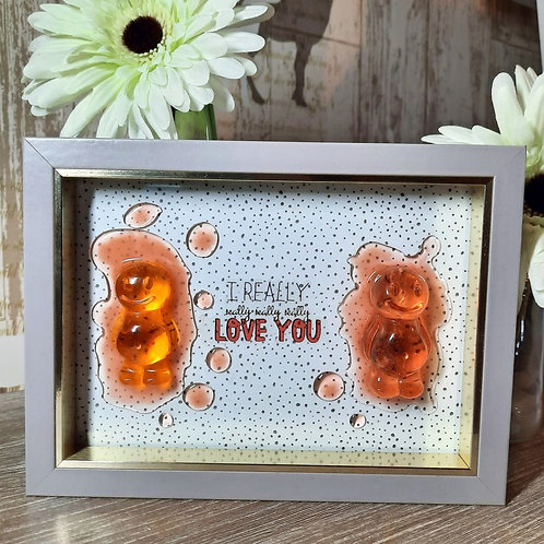 I Really Really Love You Jelly Baby Picture (19.5x14.5cm)