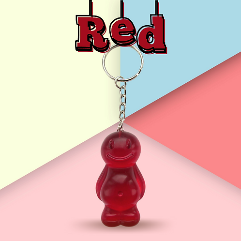 Red Jelly Baby Keyring