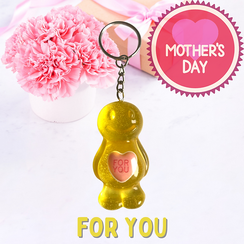 For You Jelly Baby Keyring