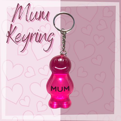 Mum Pink Jelly Baby Keyring