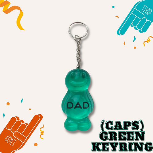 Dad Green (CAPS) Jelly Baby Keyring