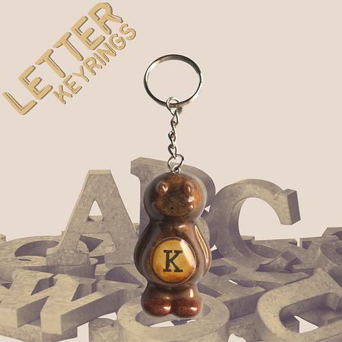 Letter 'K' Jelly Baby Keyring