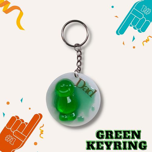 Circle Green Jelly Baby Keyring