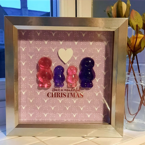 Have A Wonderful Christmas Framed Jelly Baby Pictures Collection (19x19cm)