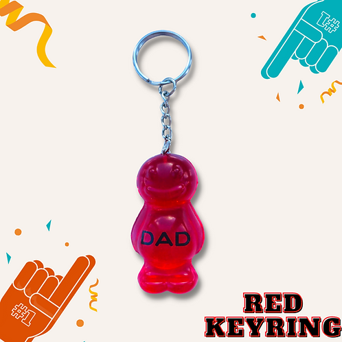 Dad Red Jelly Baby Keyring