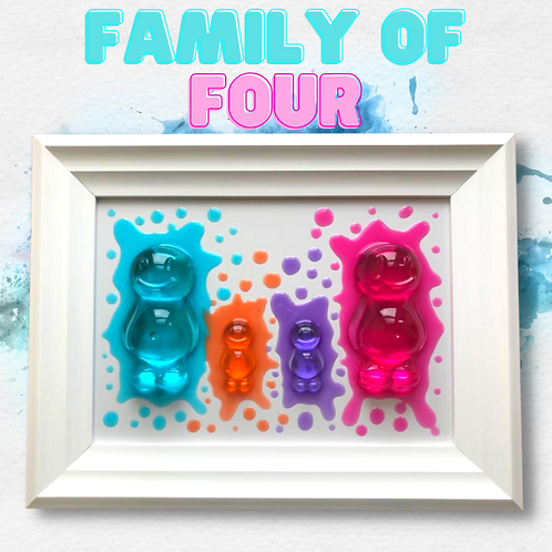 Family Of Four Jelly Baby Picture (38x29cm)