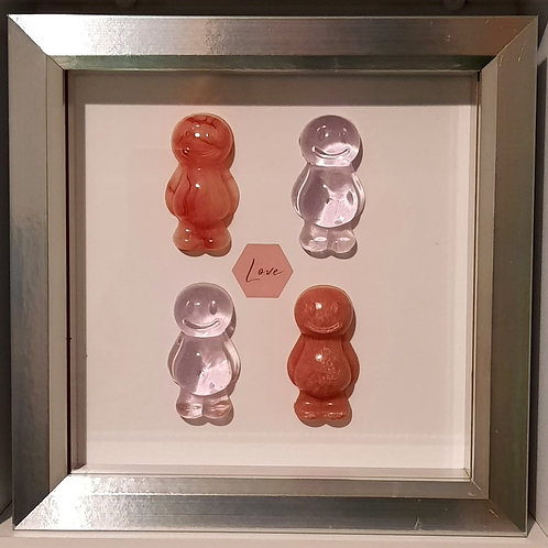 Framed Jelly Baby Love Pictures Collection (19x19cm)