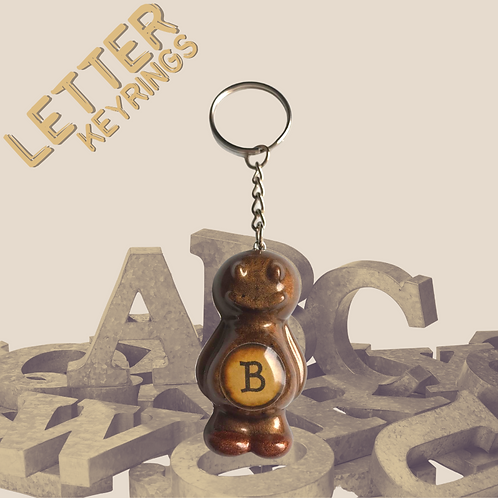 Letter 'B' Jelly Baby Keyring